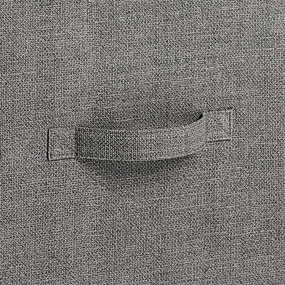 mDesign commode 3 tiroirs table de nuit pour appartements anthracite chambre denfants etc table de chevet en tissu//m/étal//bois pour la chambre /à coucher studios et petites pi/èces