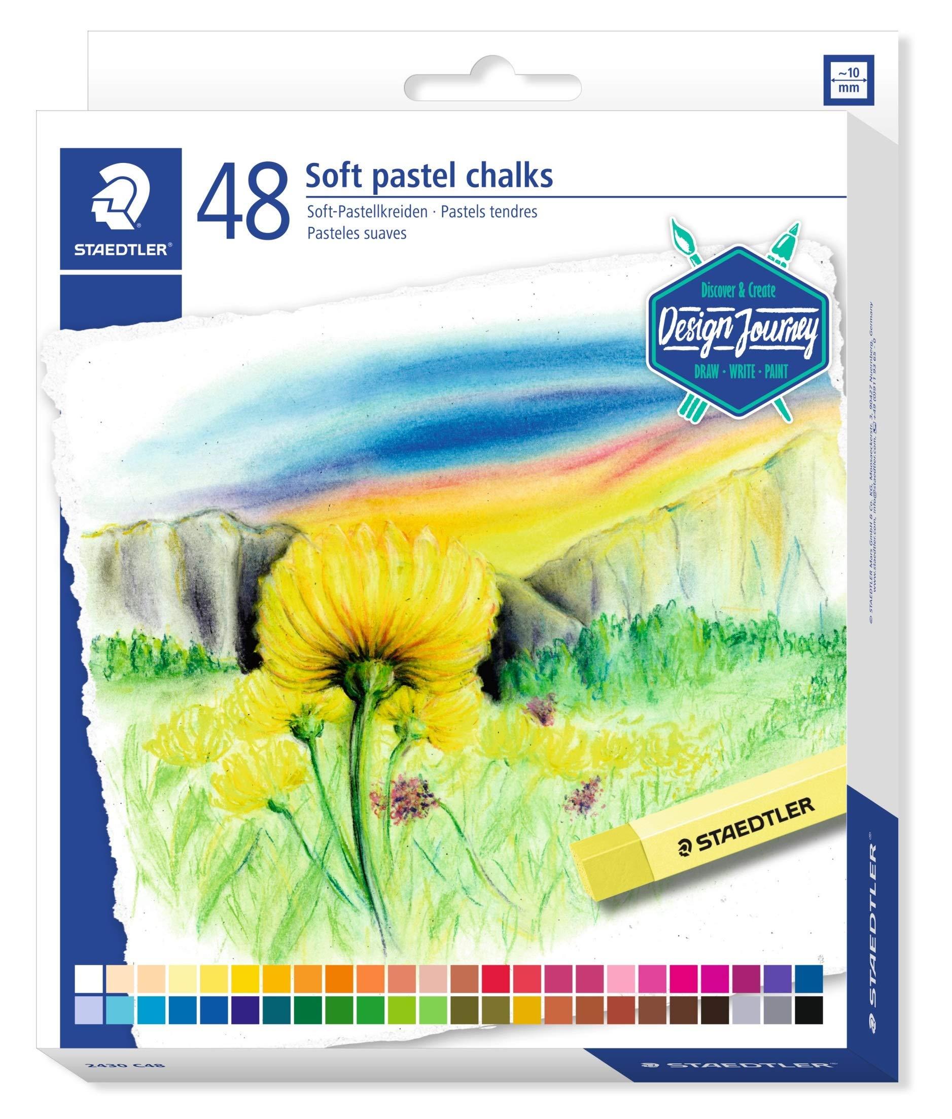 Staedtler Karat Premium Quality Soft Pastel Chalks, 2430C48