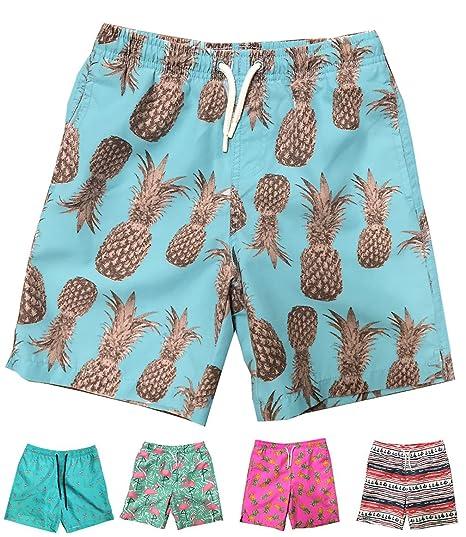 4d4d6ed4834 INGEAR Little Boys Quick Dry Beach Board Shorts Swim Trunk Swimsuit Beach  Shorts with Mesh Lining