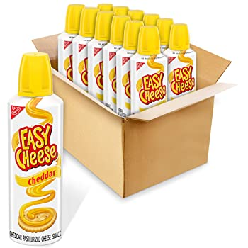 Easy Cheese 12 Of Pack Cheddar Cheese