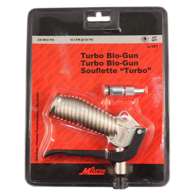 Milton S-181 Turbo Pistol Grip Blow Gun - Adjustable Nozzle - 42 CFM - 230 Max PSI