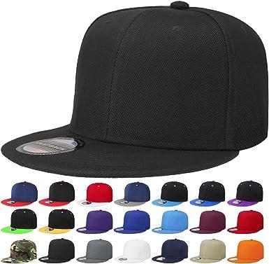 Snapback Classic Flat Bill Hip Hop Cap Mens Womens Flat Hats Air-Lift
