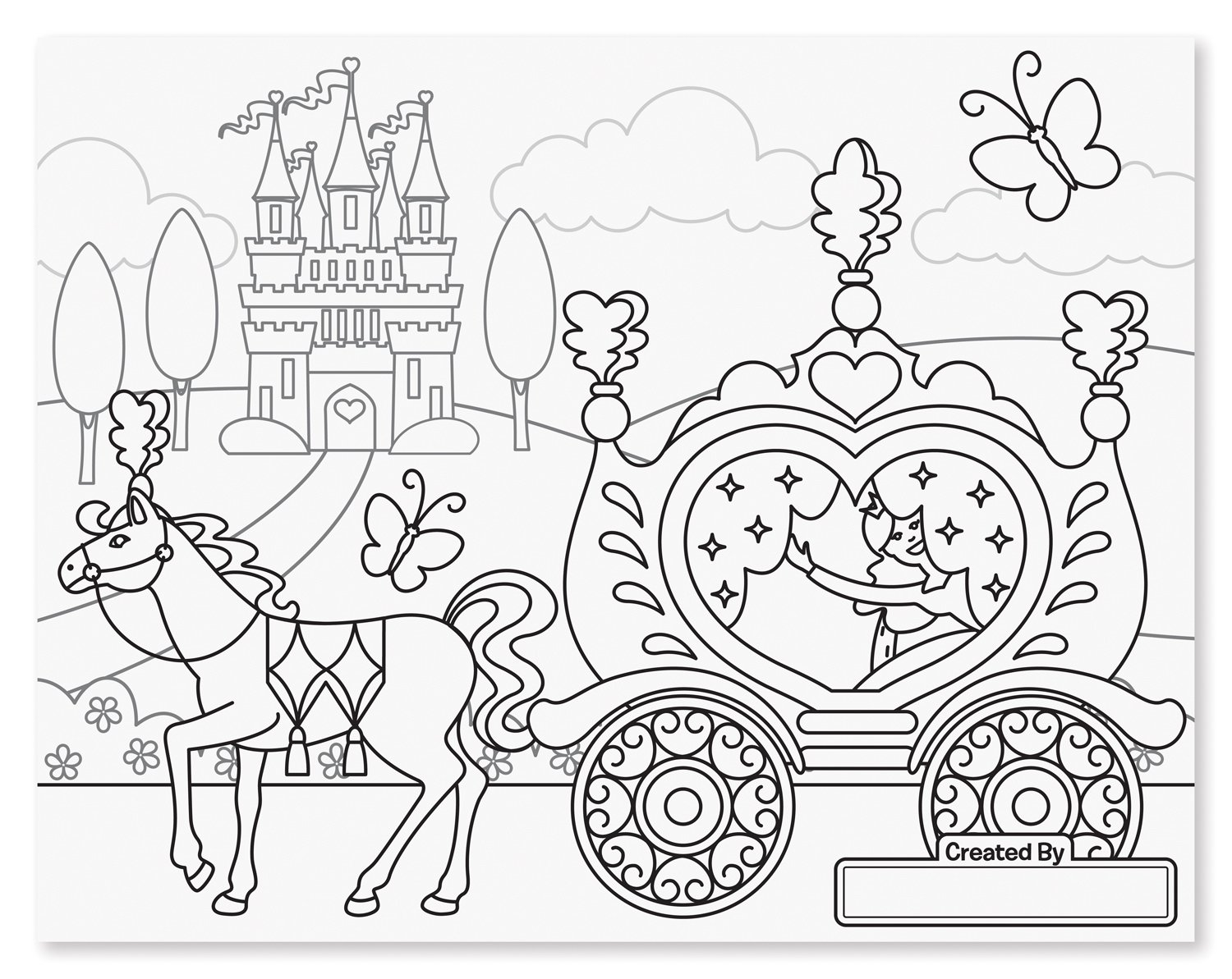 amazoncom melissa doug princess fairy jumbo coloring pad melissa doug toys games - Jumbo Coloring Pages