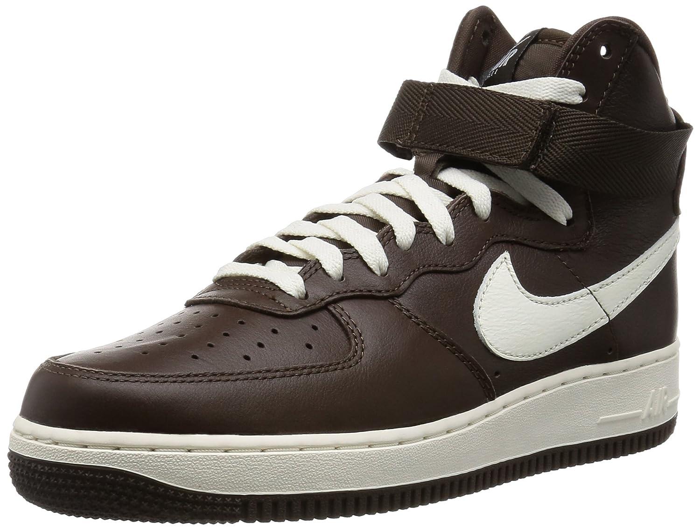 Nike Air Force 1 Hi Retro QS, Hausschuhe de Balonmano para Hombre braun   Weiß (Chocolate Sail)