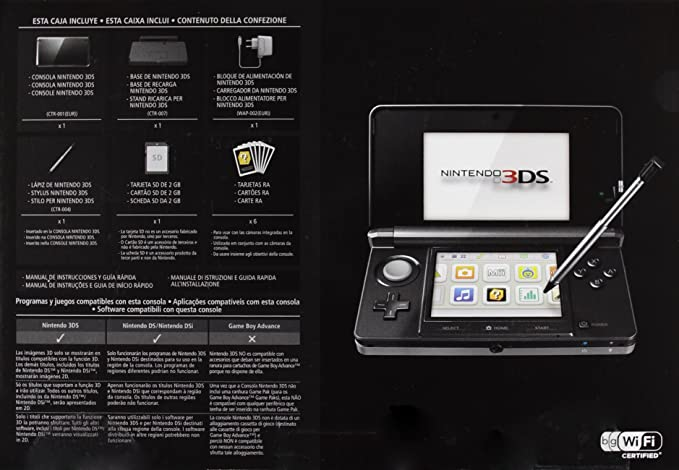 Nintendo 3DS - Consola, Color Negro: Amazon.es: Videojuegos