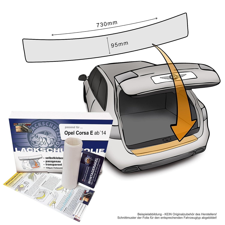 compatible con Opel Corsa E AB Bj 2014 - Ajuste barniz protector de pantalla como protección ladekant autoadhesivo (Auto Pantalla y protector de pantalla) ...