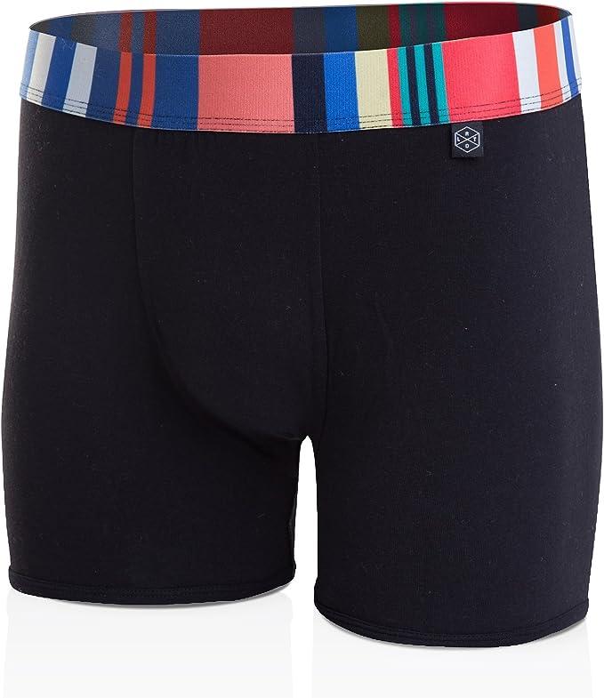 Dark Red Christmas Plaid Mens Underwear Mens Bag Soft Cotton Underwear 2 Pack