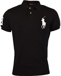 Polo Ralph Lauren Mens Big Pony Custom Slim Fit Mesh Polo Shirt