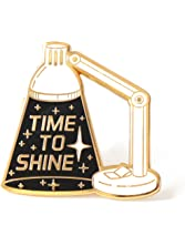 Compoco Space Inspired Enamel Pin Inspirational Lapel Pin Time to Shine Lamp