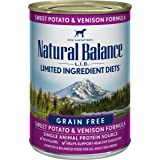 Natural Balance L.I.D. Limited Ingredient Diets Wet Adult Dog Food, Grain-Free, 13 Ounce Cans (Pack of 12)