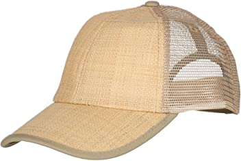 4abe412000527 DPC Outdoor Design Men s Structured Raffia Baseball Cap with Mesh Back