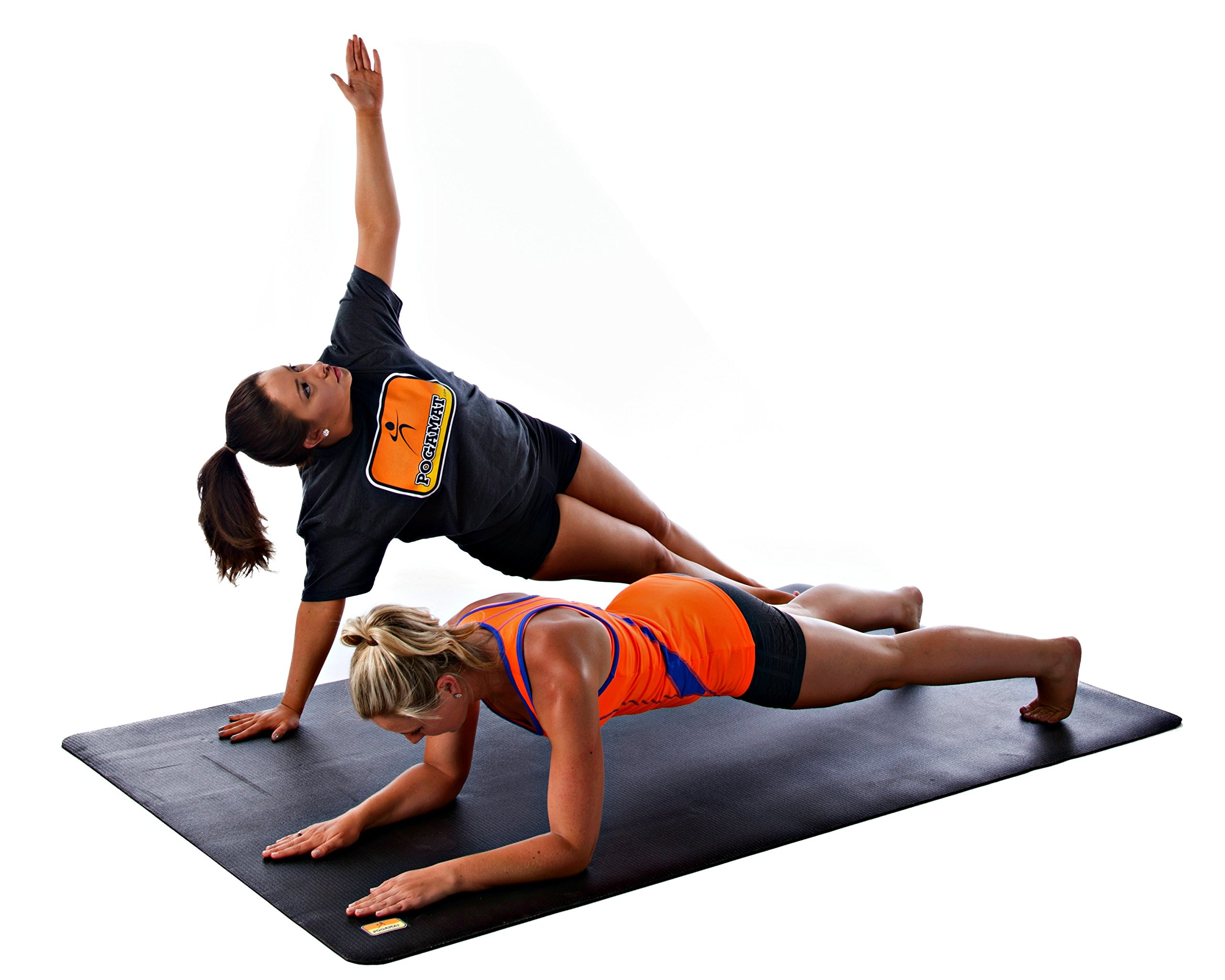 Pogamat Large Exercise Mat 78'' x 48'' x 1/4'' Thick (6.5' x 4') Anti-Tear Workout Mat And Yoga Mats. Perfect For All Types Of Exercises. Does Not ''Bunch Up'' While Working Out. Used WITH Or Without SHOES by Pogamat (Image #3)