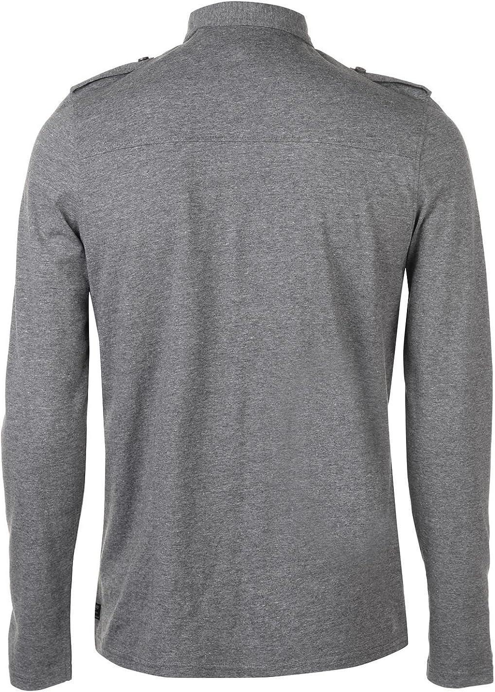 Firetrap Hombre Pocket Camisa Polo Manga Larga: Amazon.es: Ropa y ...