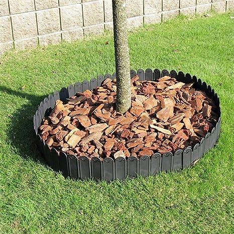 JIASHU Valla Decorativa para jardín, Borde de plástico pequeño y ...
