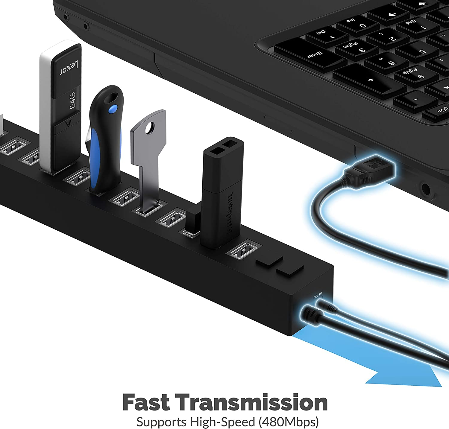 22AWG 3 Feet USB 3.0 Extension Cable Sabrent 13 Port High Speed USB 2.0 Hub
