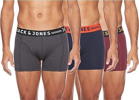 Mens 3 Pack Jack /& Jones Jacpiping Fly Front Trunks