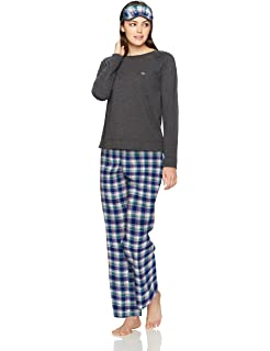 Tommy Hilfiger Women's Top and Pant Bottom Lounge Pajama Set