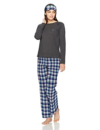 Tommy Hilfiger Women s Top and Flannel Pant Bottom Pajama Set Pj at ... 7529b2d74d