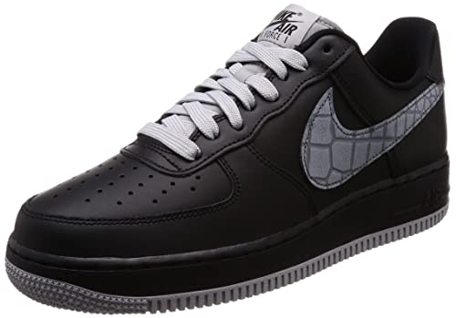 new product 20e8a 98f7a NIKE, Uomo, Air Force 1 07 LV8, Pelle, Sneakers, Nero, 40.5 EU  Amazon.it   Scarpe e borse