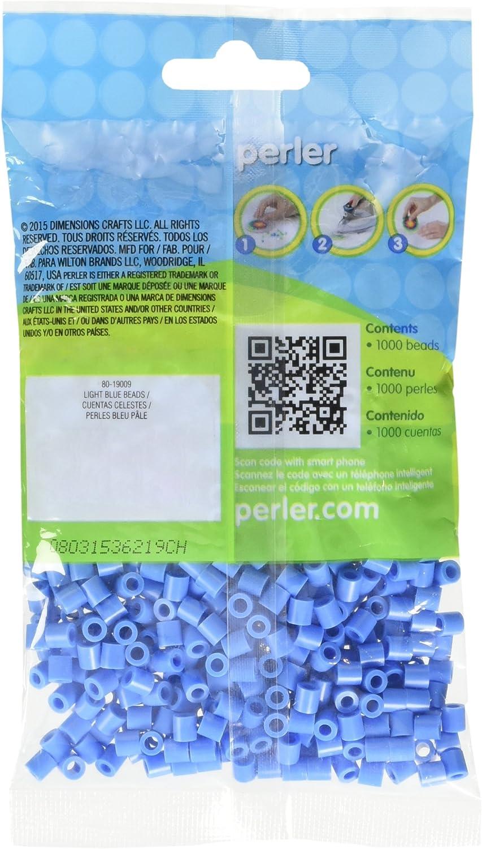 Perler Beads 1000 Pack-bleu clair Nº 19009