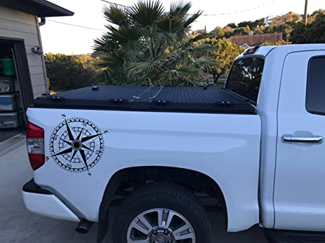 Amazoncom Truck Side Bed Decal X Black Vinyl Stickers Compass - Truck bed decals custombody graphicsdodge ram