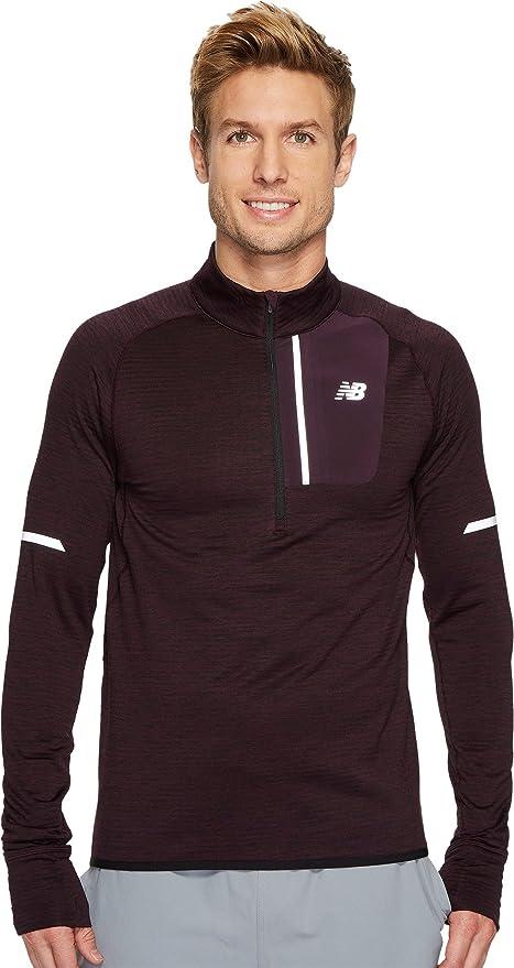 93e9be5650af9 New Balance Mens Heat 1/2 Zip Men's Sweatshirt, Black Rose Heather, Large