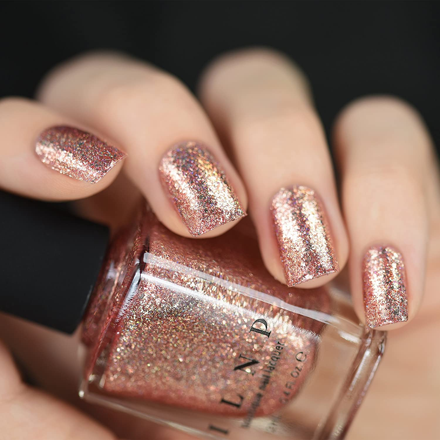 Buy Ilnp Juliette Rose Gold Holographic Nail Polish Online at Low ...