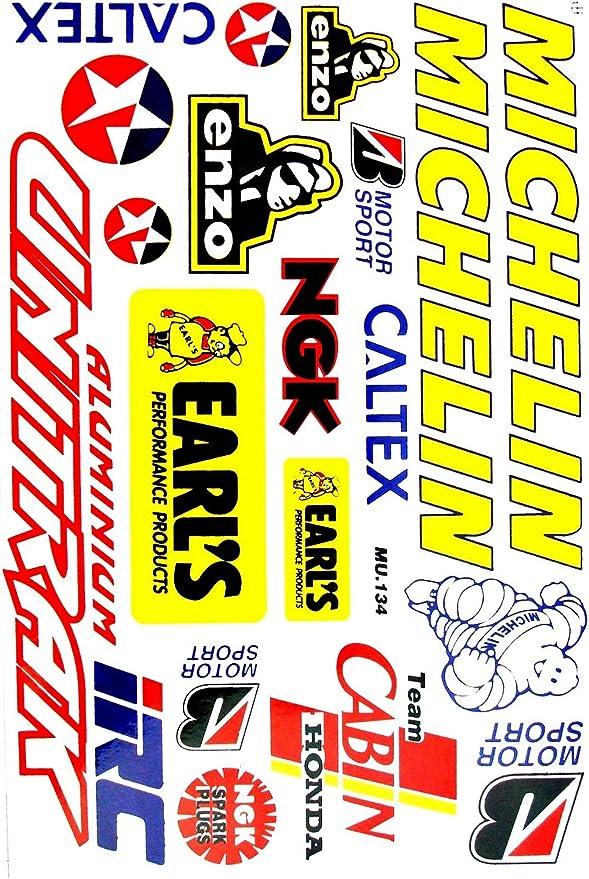 CAR MOTORCYCLE DECORATION STICKER TENZO DOUBLE R STICKER