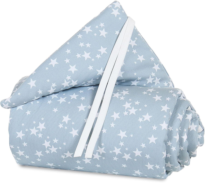 babybay Nestchen Piqué für Maxi, Boxspring und Comfort, weiß Applikation Stern azurblau Sterne weiß BABYBAY® Babybay_160835