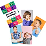 Dealing in Feelings Emotions Cards - Feelings Flash Cards for improving Social Skills Empathy and Understanding Facial Expres