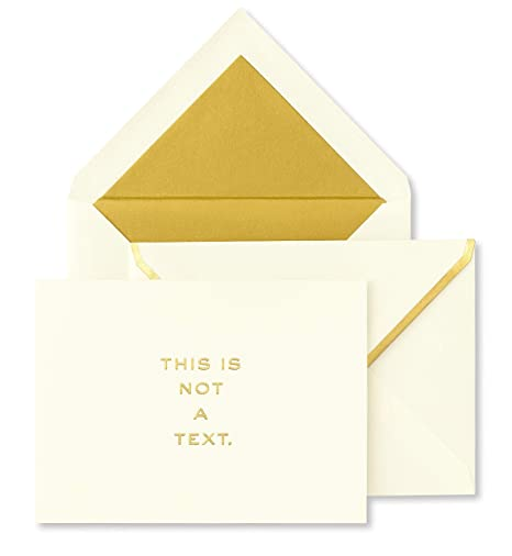 Amazon kate spade new york greeting card set of 10 this is kate spade new york greeting card set of 10 this is not a text m4hsunfo