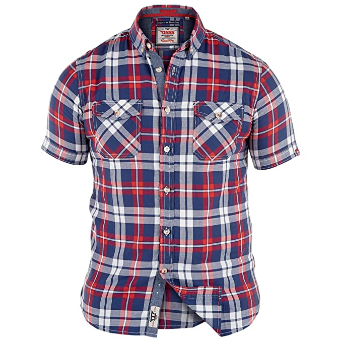 b8115b5d0421 Men's D555 Shirt HECTOR Red/Navy UK 4X Large/US 3X Large: Amazon.ca:  Clothing & Accessories