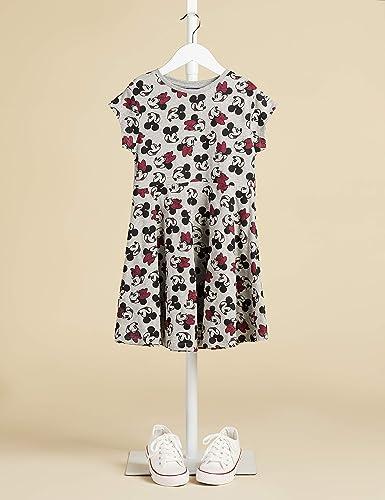 Marca Amazon - RED WAGON Vestido Minnie Mouse Niñas, Gris (Grey Aop), 128, Label:8 Years: Amazon.es: Ropa y accesorios