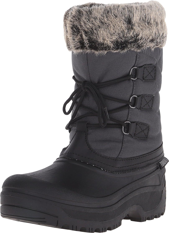Tundra Womens Dot Grey/Black Snow Boots