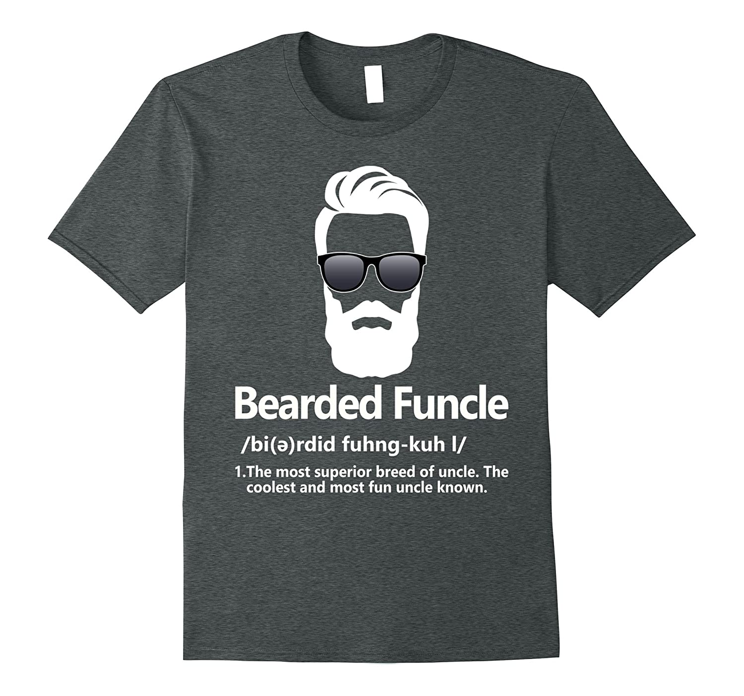 ab938972 Mens Bearded Funcle Shirt Funny Uncle Definition T-Shirt-RT – Rateeshirt