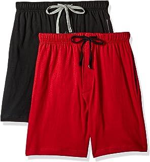 144b4c72460 Hanes Mens Jersey Lounge Drawstring Shorts with Logo Waistband 2-Pack