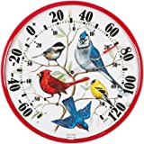 AcuRite 01581 12.5-Inch Wall Thermometer, Songbirds