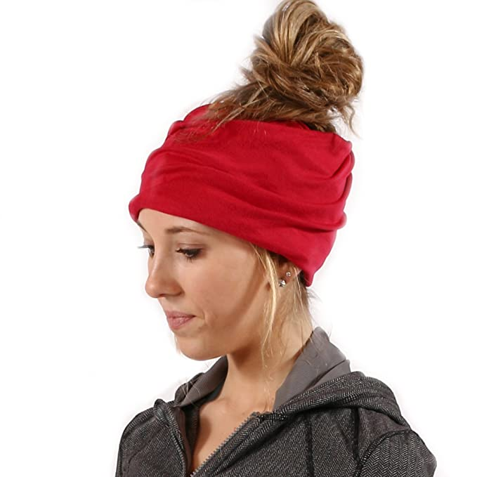Women s Slouchy Beanie with Hole (Red) at Amazon Women s Clothing store  54d5c74a17