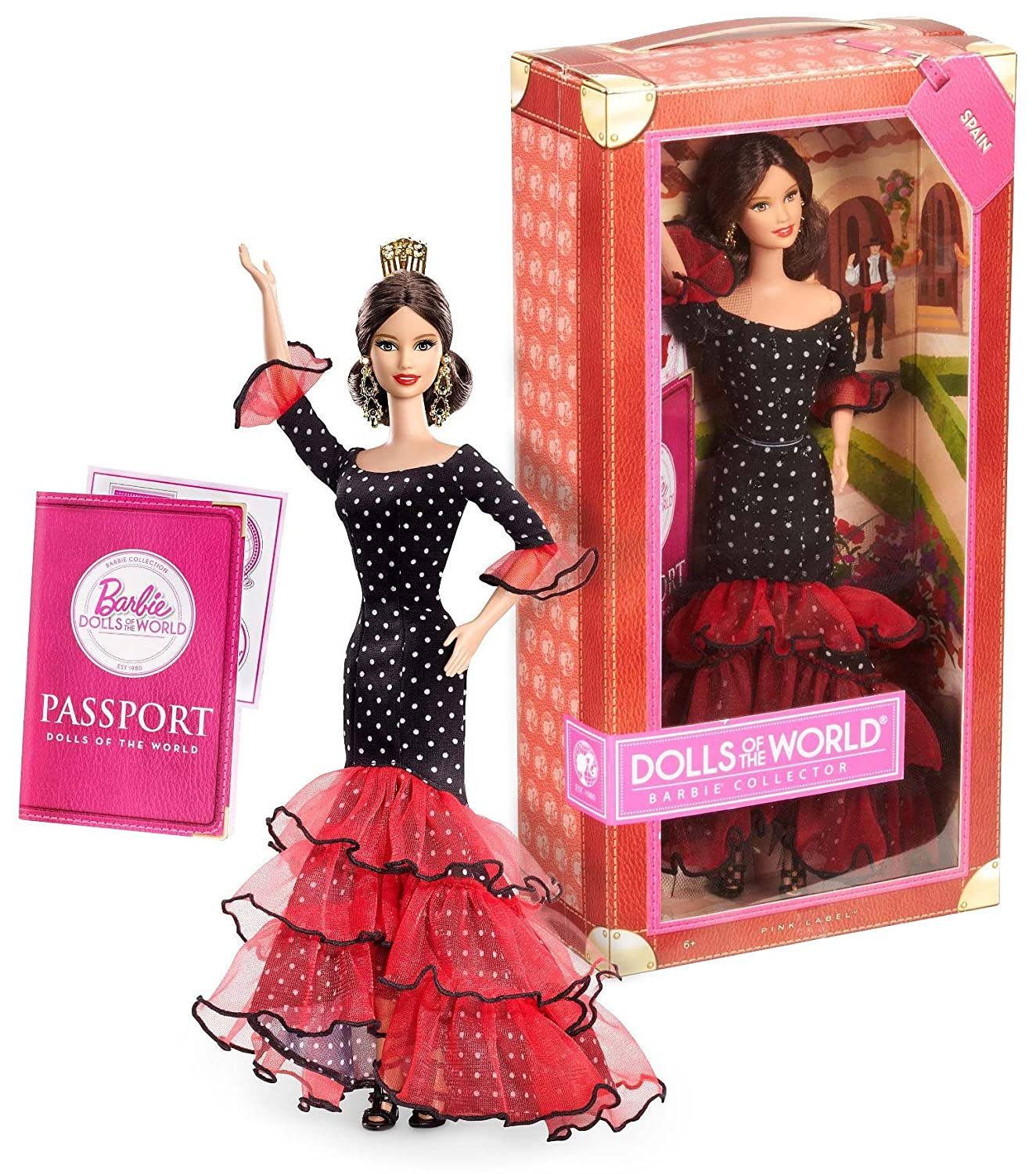 Barbie Spain ~11.5' Doll: Pink Label Dolls of the World Barbie Collector Series by Mattel X8421
