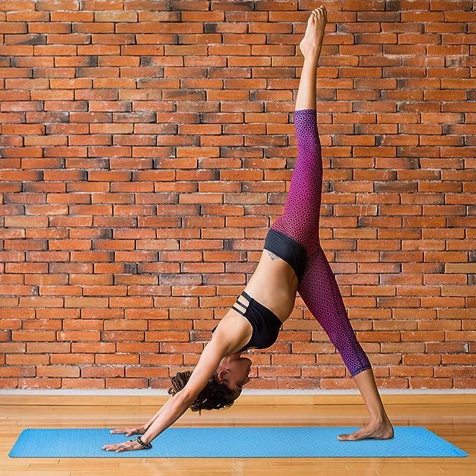 Amazon.com: Trideer - Esterilla de yoga de TPE de 0.236 in ...