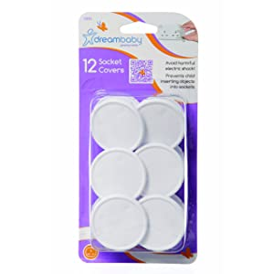 Dreambaby Socket Covers - Extra Value (Pack Of 12, White)