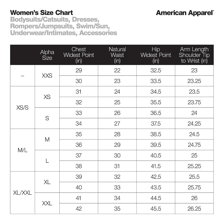 American Apparel Womens Cotton Spandex Long Sleeve Double U Bodysuit Size XL Black