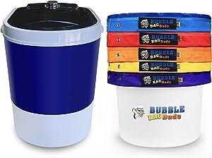 "BUBBLEBAGDUDE Bubble Bags Machine 5 Gallon 5 Bag Set - 5 Gallon 110 Volts Mini Washer Herbal Ice Essence Extraction Kit with 5 Gallon Zipper Bag & 10 x 10"" (25 micron) Pressing Screen & Storage Bag"