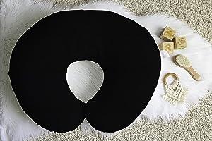 Linen Nursing Pillow Cover in Iron