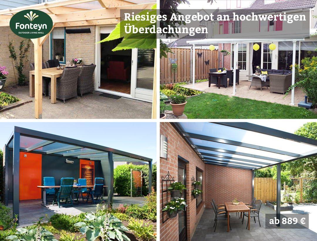 Fonteyn - Canalón de Aluminio para terraza (430 x 300 cm ...