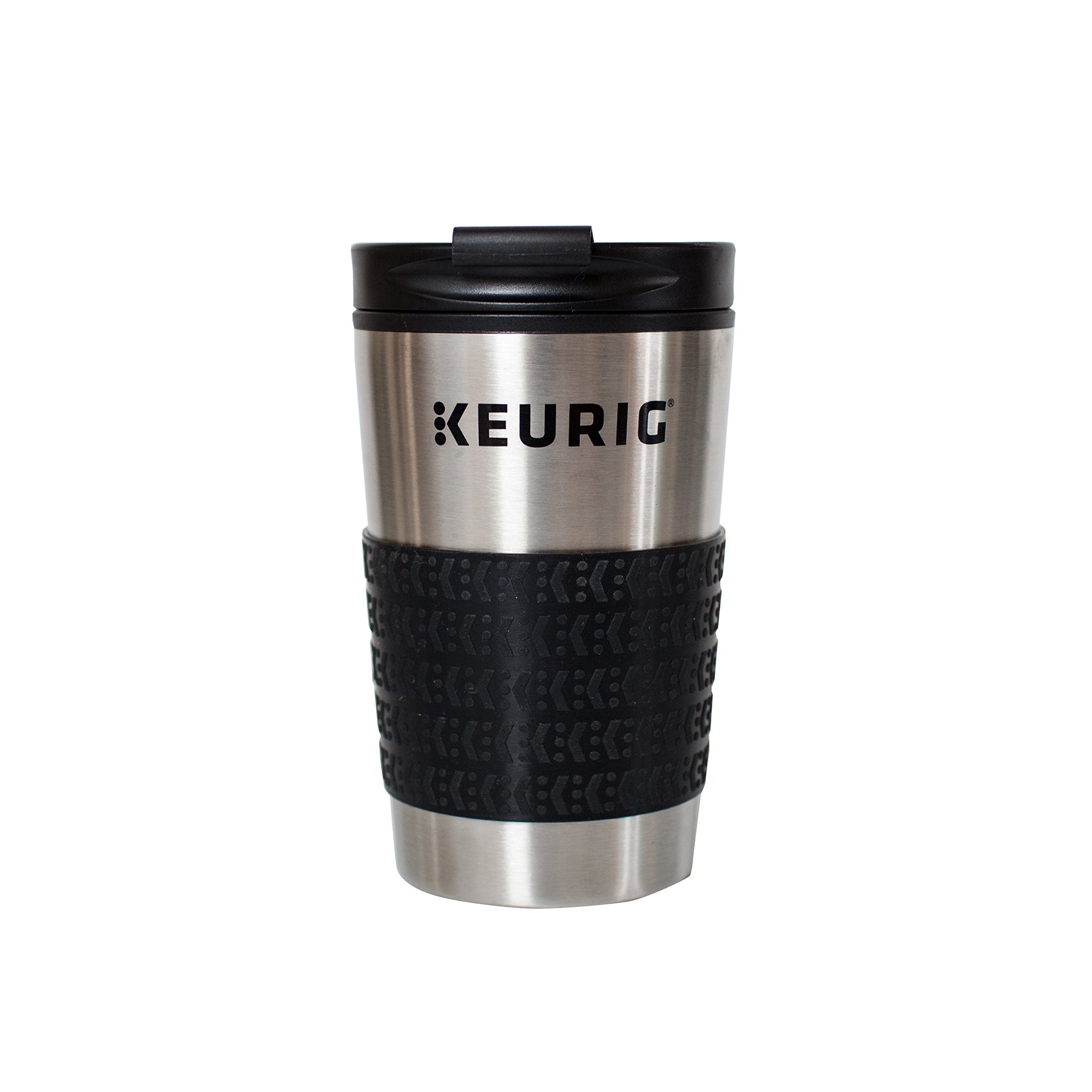 Keurig 12oz Stainless Steel Insulated Coffee Travel Mug, Fits Under Any Keurig K-Cup Pod Coffee Maker (including K-15/K-Mini), Silver by Keurig