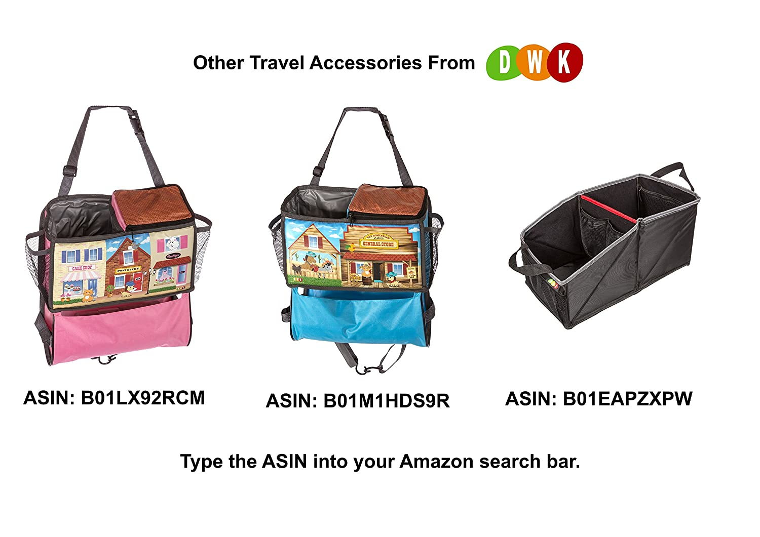 Kids Snack and Play Tray for Car Bus Train and Plane Journeys Pink Works on Buggy and Pushchair By Driving With Kids Childrens Travel Tray Small