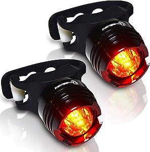 Stupidbright SBR-1 Rear Bike Tail Light Mini Strap-On LED Micro Bicycle Lights