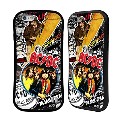 Official Ac Dc Acdc Icons Collage Hybrid Case Compatible For Iphone 6 Iphone 6s