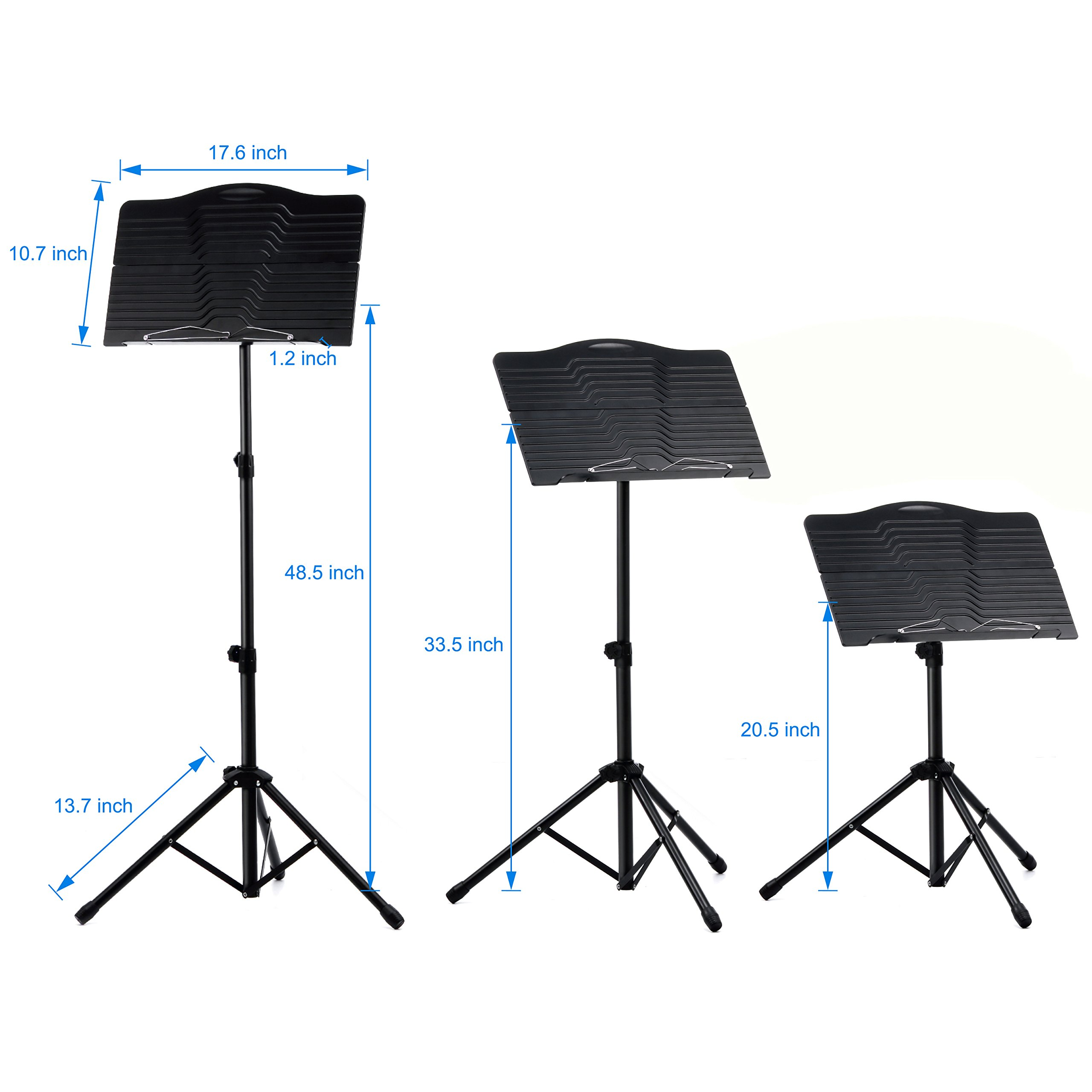 Donner Sheet Music Stand DMS-1 Folding Travel Metal Music Stand With Carrying Bag by Donner (Image #7)